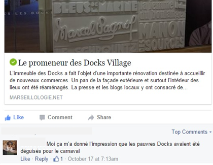 Le 2ème promeneur des Docks Village